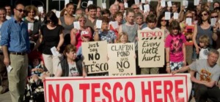 Clapton Resident's Protest New Tesco Plans