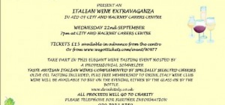 An Italian wine tasting event for Hackney carers