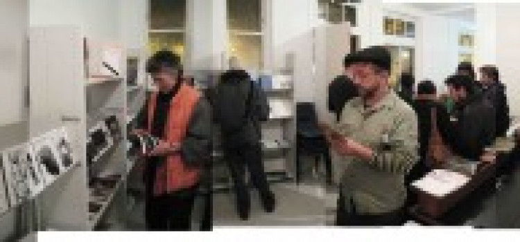 Reading room and art exhibition open on Hackney train station platform