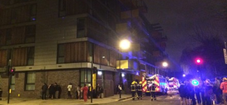 Woman jumps from third floor in Haggerston to escape fire