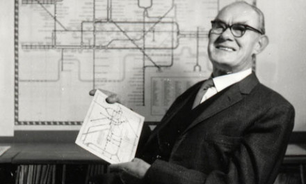 Harry Beck, designer of the London Underground map. Photograph: London Transport Museum/TFL