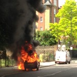 Couple injured in Dalston car fire