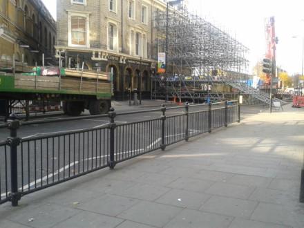 Amhurst Road this morning. Image: Remi Makinde