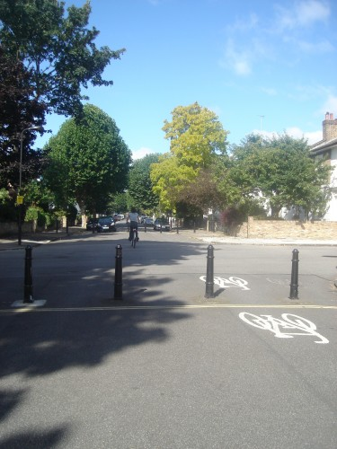 Permeable: Local quiet low traffic streets like this makes cycling a pleasure.