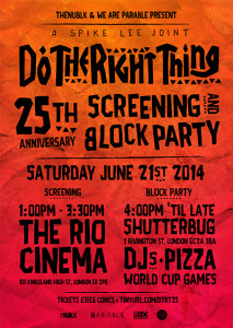 Spike Lee 'Do The Right Thing' 25th Anniversary Celebration @ Rio Cinema   London   United Kingdom