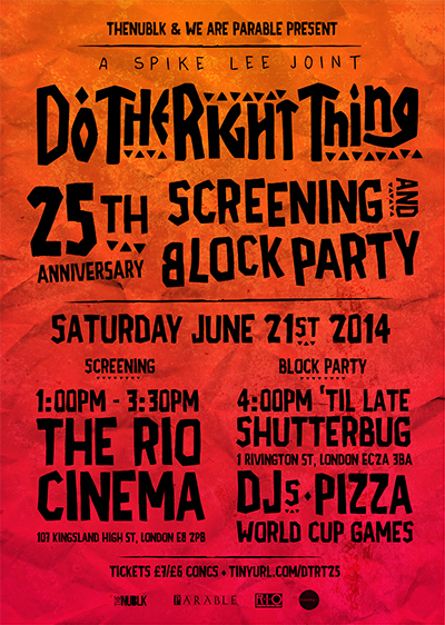 Spike Lee 'Do The Right Thing' 25th Anniversary Celebration