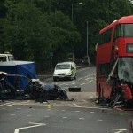 Fatal Clapton bus crash leaves one dead and 13 injured