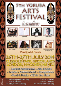 5th Annual Yoruba Arts Festival @ Clissold Park | London | United Kingdom