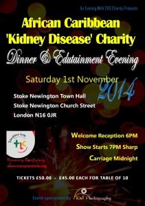 African Caribbean Kidney Disease Charity Dinner 2014 @ Stoke Newington Town Hall | London | United Kingdom