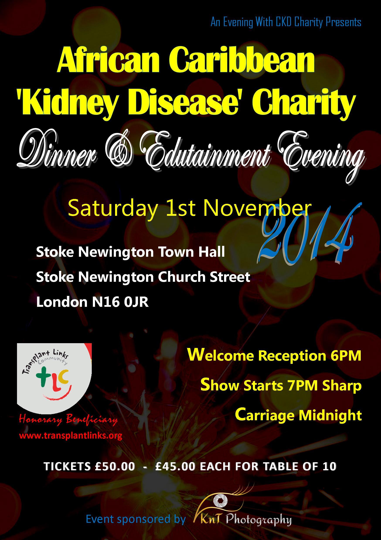African Caribbean Kidney Disease Charity Dinner 2014