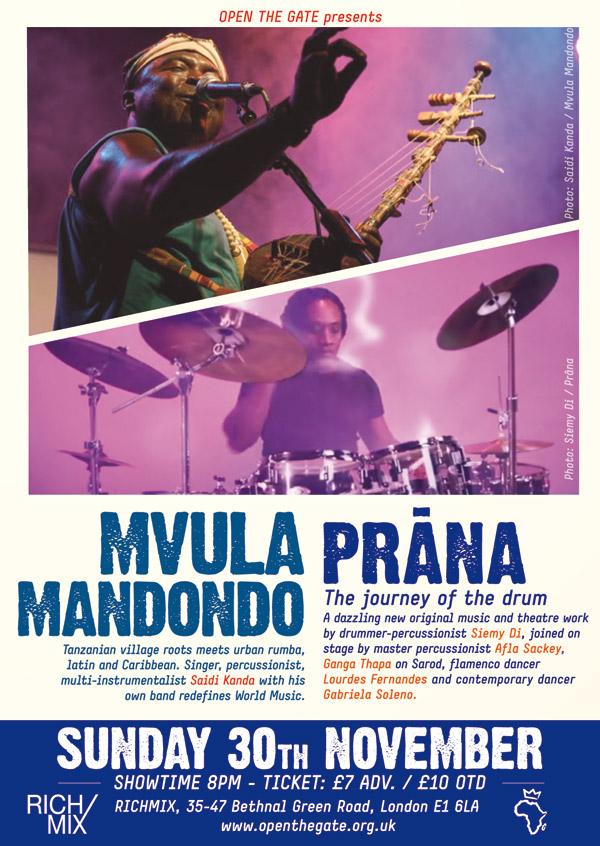 MVULA MANDONDO & PRANA – LIVE