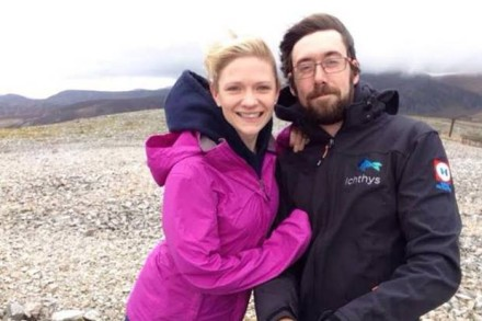 Cyclist Stephanie Turner killed on her way to work, seen here with fiance.  Image Facebook.