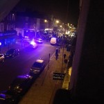 Bottles and missiles thrown at police as teen is stabbed in Clapton