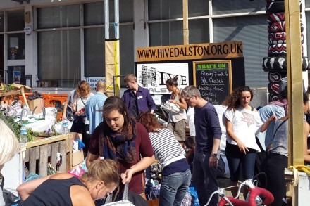 Donations and volunteers at the Hive in Haggerston