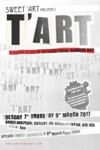 T'ART: A group exhibition celebrating International Women's Day @ Bones & Pearl Studios | England | United Kingdom